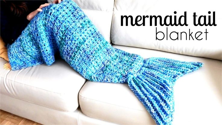 How to crochet MERMAID tail blanket | TUTORIAL DIY, easy pattern