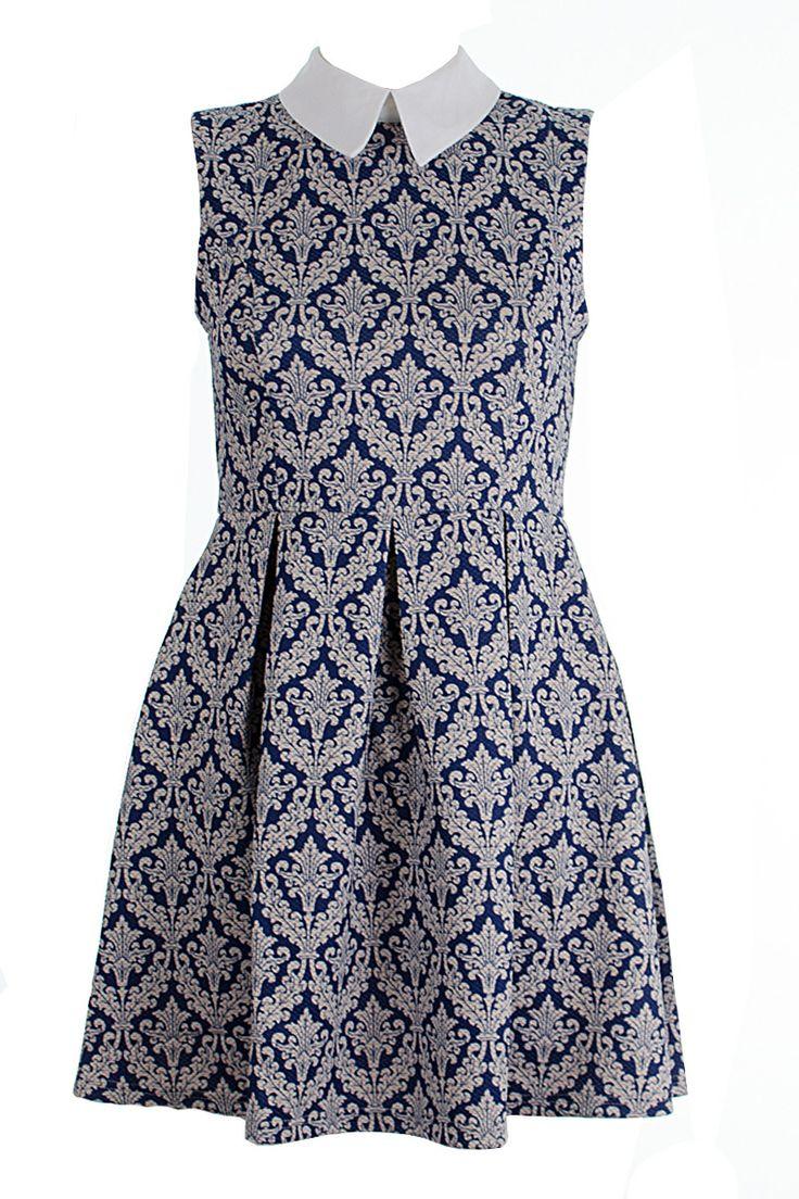 Alexa Paisley Print Collared Skater Dress http://www.fuchia.co.uk/products/clothing/dresses/alexa-paisley-print-collared-skater-dress.aspx