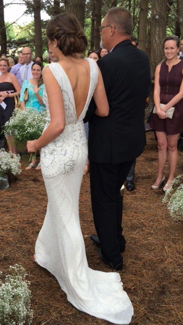 Nice Steven Khalil Custom Made Used Wedding Dress on Sale Off