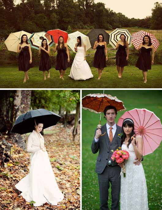 10 ideas para no temer a la lluvia/10 ideas to have a nice rainy wedding