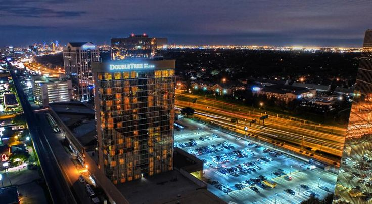 DoubleTree by Hilton Hotel Dallas Campbell Centre Dallas Easily accessible from major area motorways, and only a short distance from the area's main attractions, including the Dallas Convention Center, this hotel boasts spacious accommodations and many modern amenities.