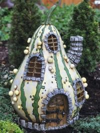 how to make a fairy house from a gourd