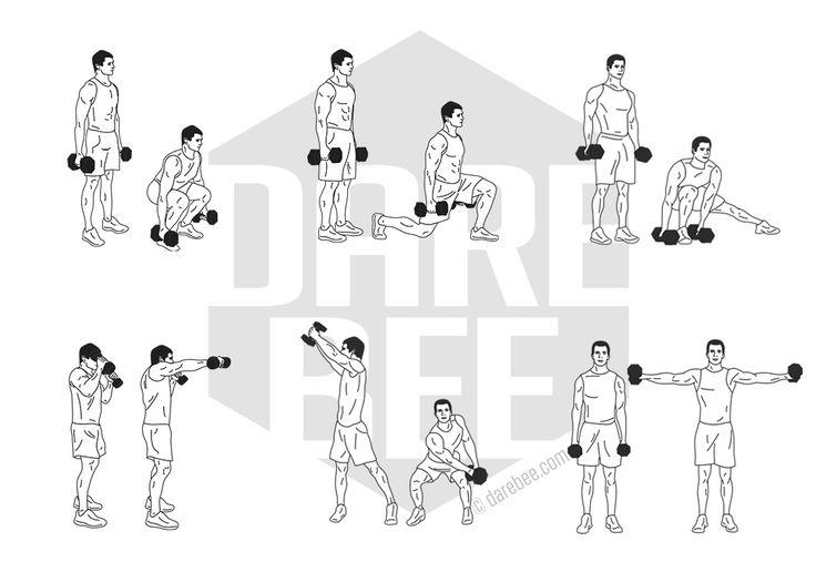 Упражнения на гантелях дома картинки