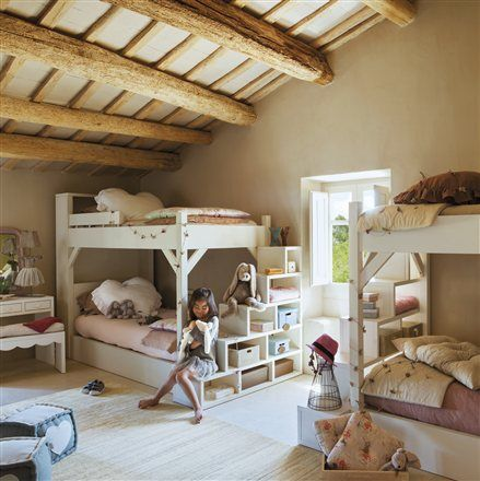 4 in a room. mommo design: BUNK BEDS