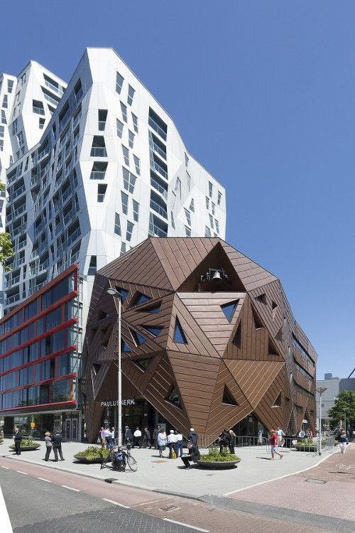 The unique building of the Pauluskerk in Rotterdam. Made by Will Allsop Fotografie: Huib Kooyker #Holland #architecture