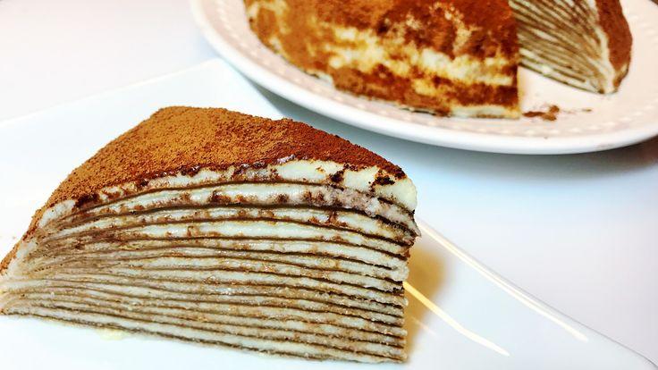 БЛИНЫ. Блинный Торт ТИРАМИСУ. Нежный, тает во рту!  МАСЛЕНИЦА,   Tiramisu Crepes -Cake/ - YouTube