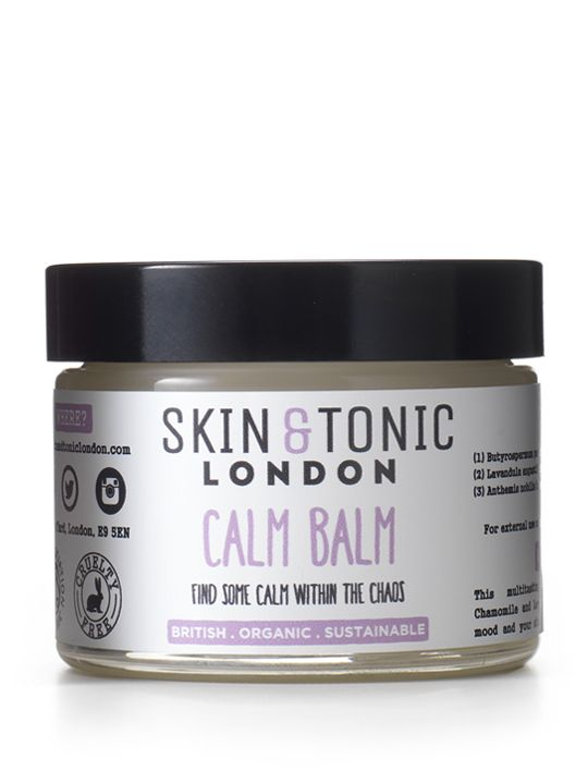 An image of a calming cleansing balm that has not been tested on animals.