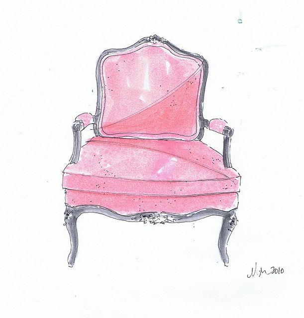 Pink French Chair, Michelle Morelan