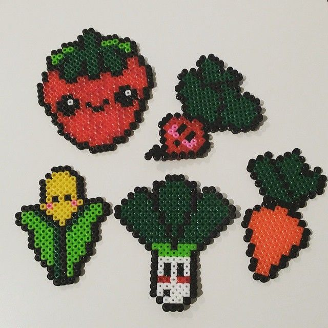 Vegetables hama beads by mimlindskog