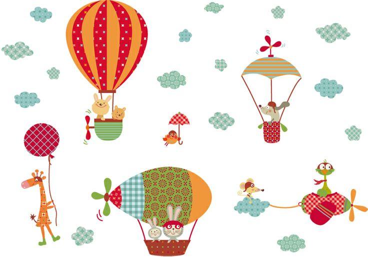 vinilos infantiles decohappy - - vinilo infantil los voladores felices