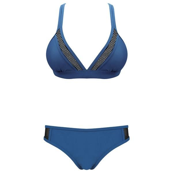 PRIME - Midnight Navy  Mesh details on navy bikini for that sporty and edgy look.  #OluAustralia