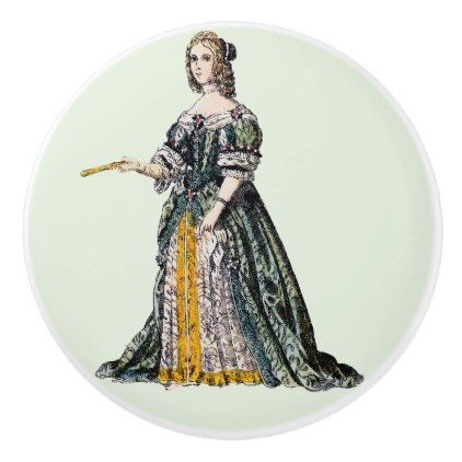 COSTUMES  Henrietta Duchess of Orleans  1669 Ceramic Knob  $9.95  by Pictures_Photographs  - custom gift idea