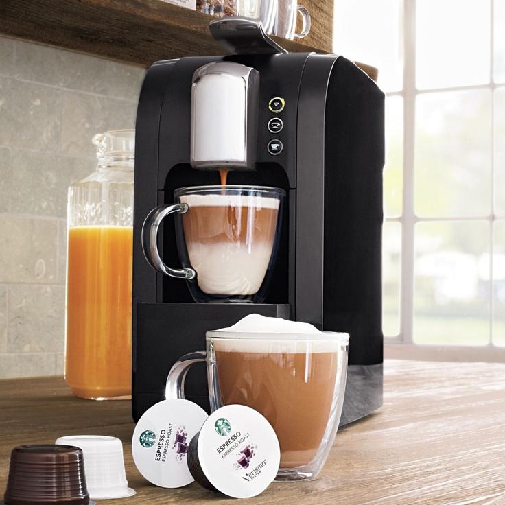 Starbucks® Verismo™ Single-Cup Coffee and Espresso Maker, Black | Sur La Table
