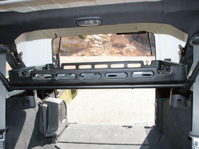 Jeep Wrangler Modular Rack System Interior