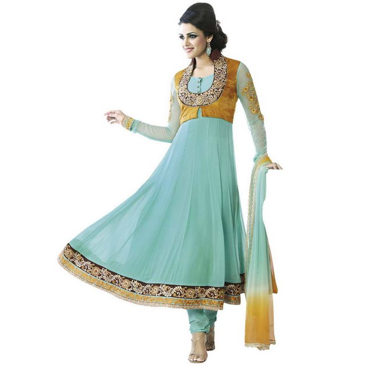 shop fabdeal sky blue colored georgette dress material sky blue online at lowest price in usa and purchase various collections of in