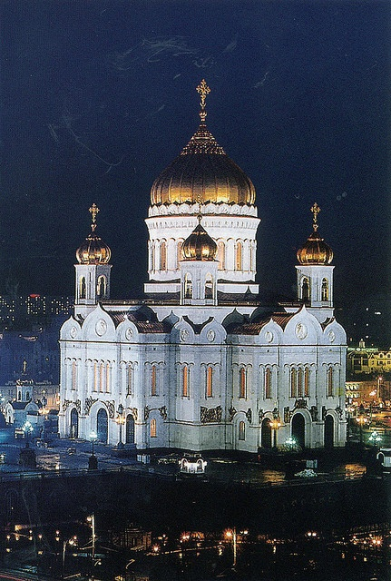 Cathedral of Christ the Redeemer in  Moscow, Russia.