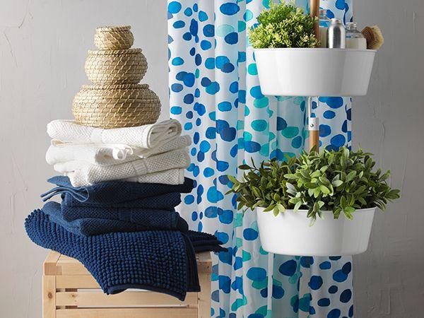 Acessórios para uma casa de banho prática e refrescante.