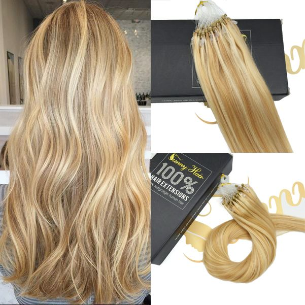 Shop Beaded Micro Ring Remy Human Hair Extensions #Sunny Hair