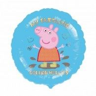 Party Time Celebrations  - Peppa Pig Golden Wellies Foil Balloon, $7.95 (http://www.partytimecelebrations.com.au/peppa-pig-golden-wellies-foil-balloon/)
