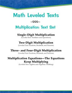 Help your students master #math skills with this #leveledtext set on #multiplication! #differentiation Provided comprehension questions complement the texts. Reading Levels: 2.1-7.1