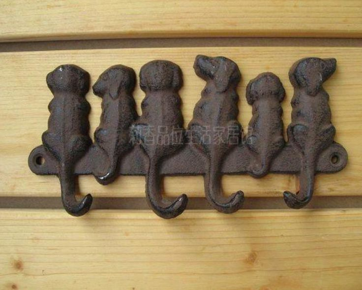 Find More Hooks & Rails Information about 19X9.5CM  Cast iron embossed decorative dog hook,High Quality iron decorative hooks,China hook hooks Suppliers, Cheap iron hook from Bossli Decoration Ideas Store on Aliexpress.com