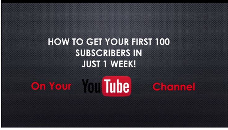 how To Get Your First 100 Subscribers Ihttps://youtu.be/N8h2Ns7KKy0 FREE and easy ways to gain followers #RT