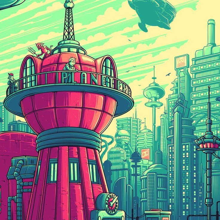 Картинки футурама город