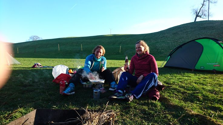 Day 1164- beer and a campfire. Also wine and Wensleydale cheese.