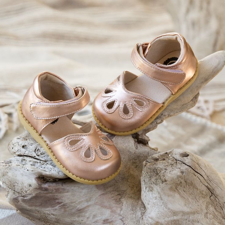 Livie and Luca Fall 2016 Petals in Rose Gold. The perfect neutral shoe that will match everything this fall and holiday season. Find it at shabbyaddy.com