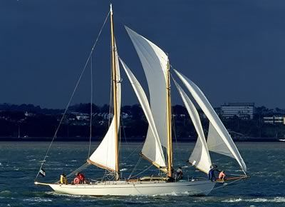 the classic schooner Arcturus is still making her living in style offering guests a first-class sailing vacation in Auckland, New Zealand