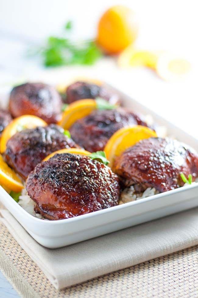 Hoisin Orange Glazed Chicken Thighs produces succulent, juicy chicken ...