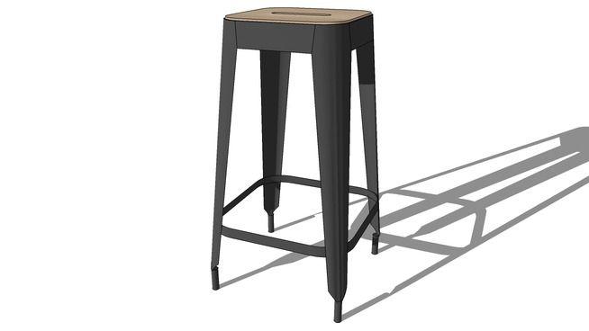 tabouret bar manufacture, maisons du monde, ref 139265 prix 79,99 € - 3D Warehouse