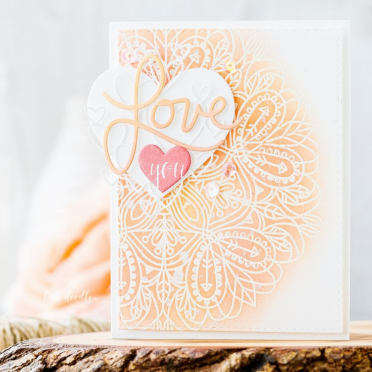 Layered Valentine's Die Cuts | SSS Dies & Rose Cheeks + Melon Dye SSS Inks | Debby Hughes (dh, cards5)