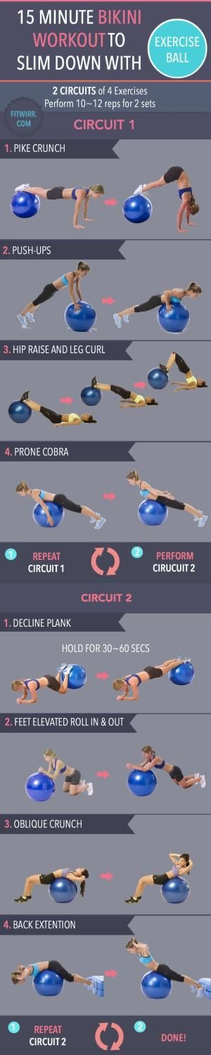 swiss ball workout to strengthen your core and tighten your abs and reduce your lower back pain by CrisC