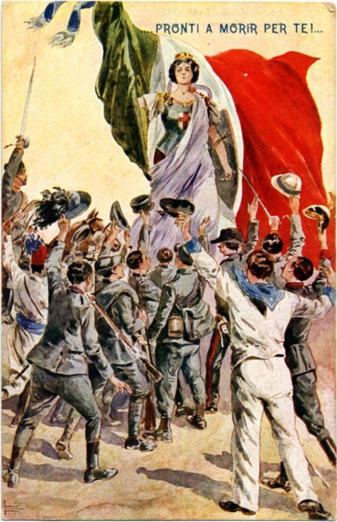 Postcard celebrating Italy's entry into the war, 1915