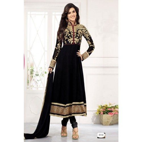 Black Designer Long Length Anarkali Suits