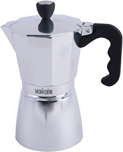 La Cafetiere 6-Cup Stovetop Espresso Maker (Classic Polished) by La Cafetiere