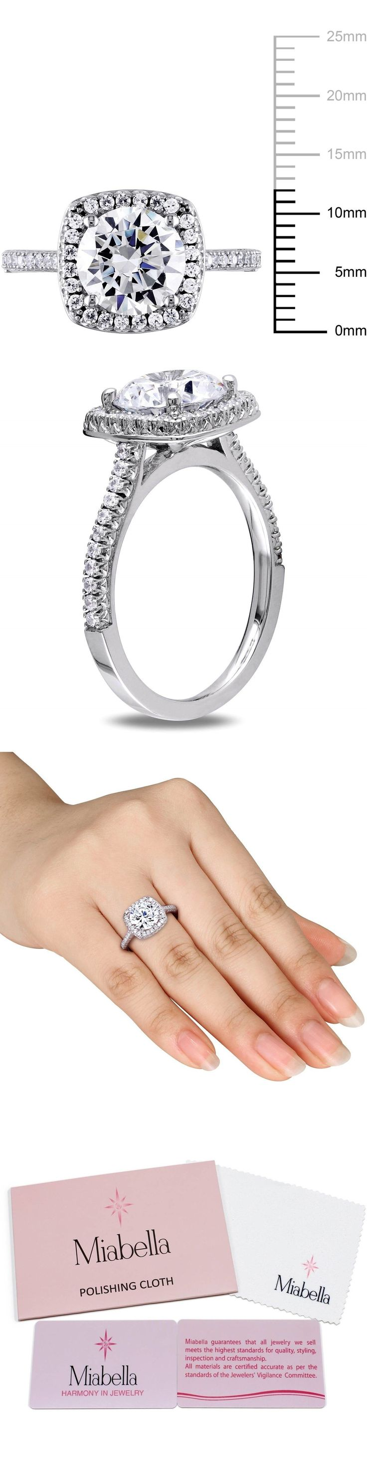 accent sterling rings ring ip diamond canada miabella silver flower engagement en walmart