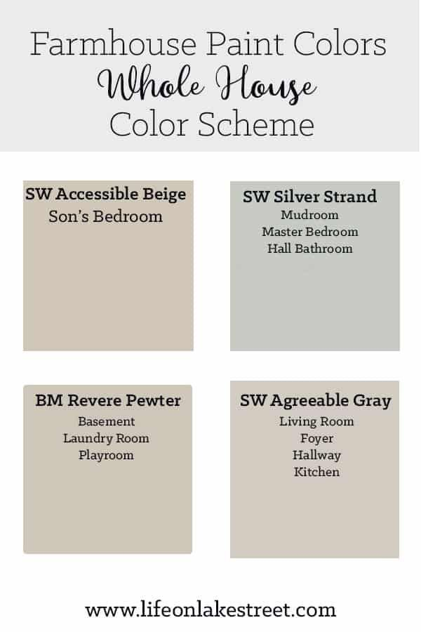Color Colors Farmhouse House Interior Paint Colors Paint