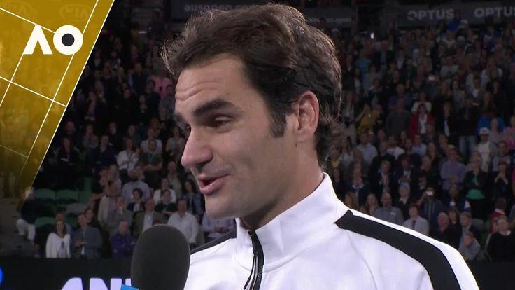 Roger Federer on court interview (3R)   Australian Open 2017 - YouTube