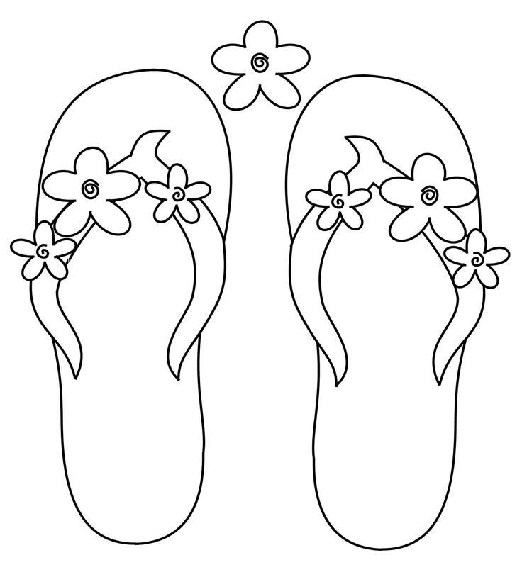 Scribbles Designs F 36 Flower Flip Flops Free Sewing
