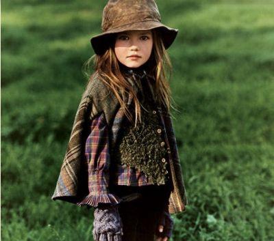 Ralph Lauren Kids: plaid cape