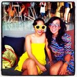 The beautiful @astryherningtias in her awesome glasses and her gorgeous friend at Potatohead in Seminyak, Bali.