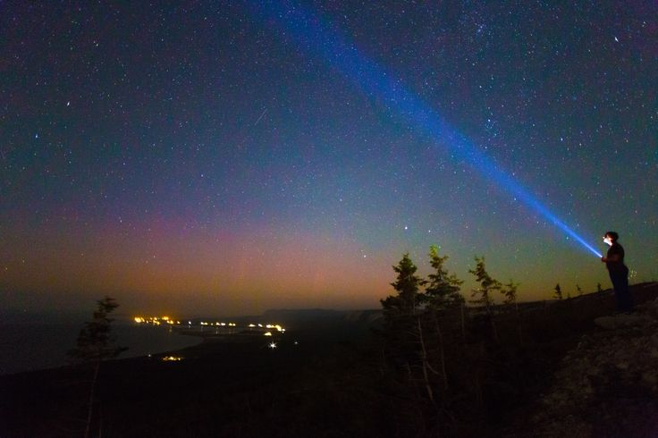 Luxpro flashlights will light your way.  Image taken in Point au Mal, NL