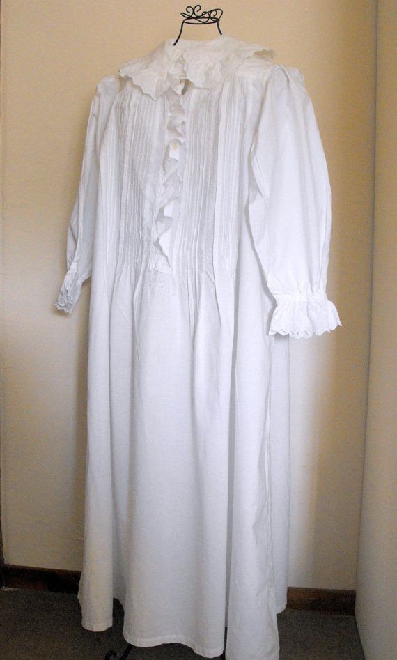 Vintage French Nightgown Old Fashioned Granny Gown Wonderful Gift Gifts French And Nightgowns