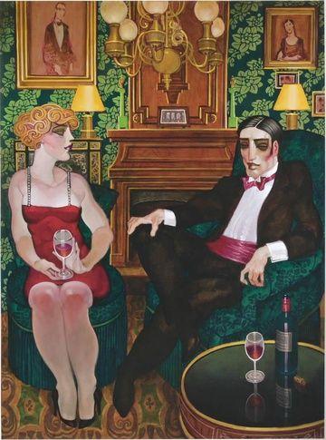 Juarez Machado (Brazil, born 1941)  Châteaux Lafite-Rothschild ~ Le Salon Vert