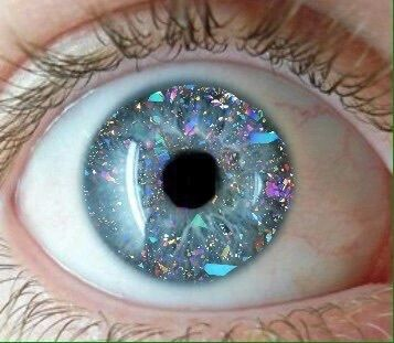 eyes and glitter image