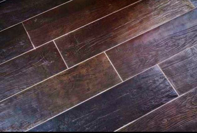 Faux wood tile floors bathroom remodel pinterest for Simulated wood flooring