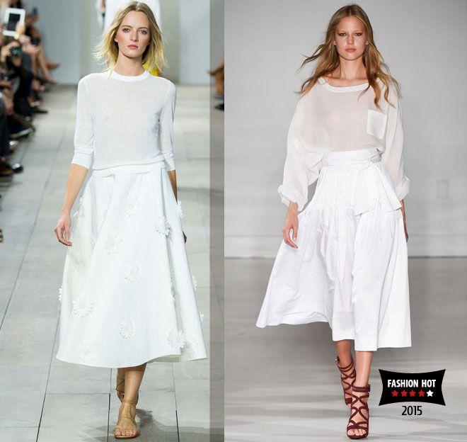 модные белые юбки Michael Kors, Jill Stuart