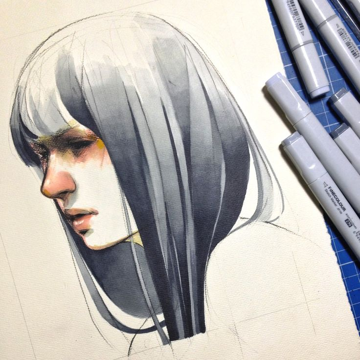 elfandiary: finecolour marker mix with 8B pencil... | AFA - art for adults